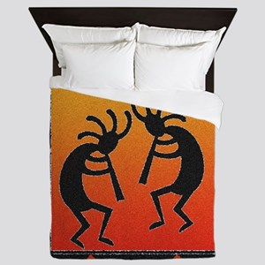 Southwest Kokopelli Pattern Queen Duvet
